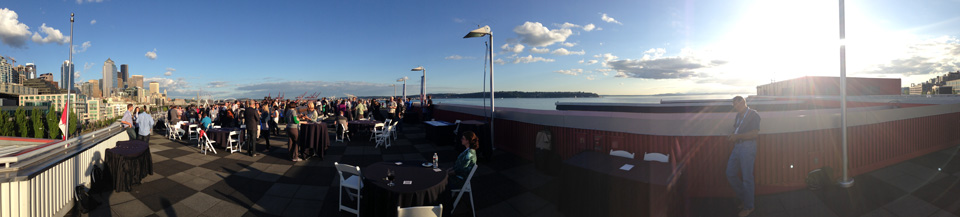 Beautiful evening for a rooftop meet & greet!