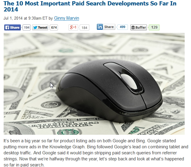 top 10 paid search developments