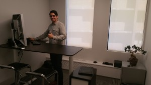Steve of Vantage at his desk