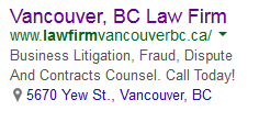 Ad for BC law firm