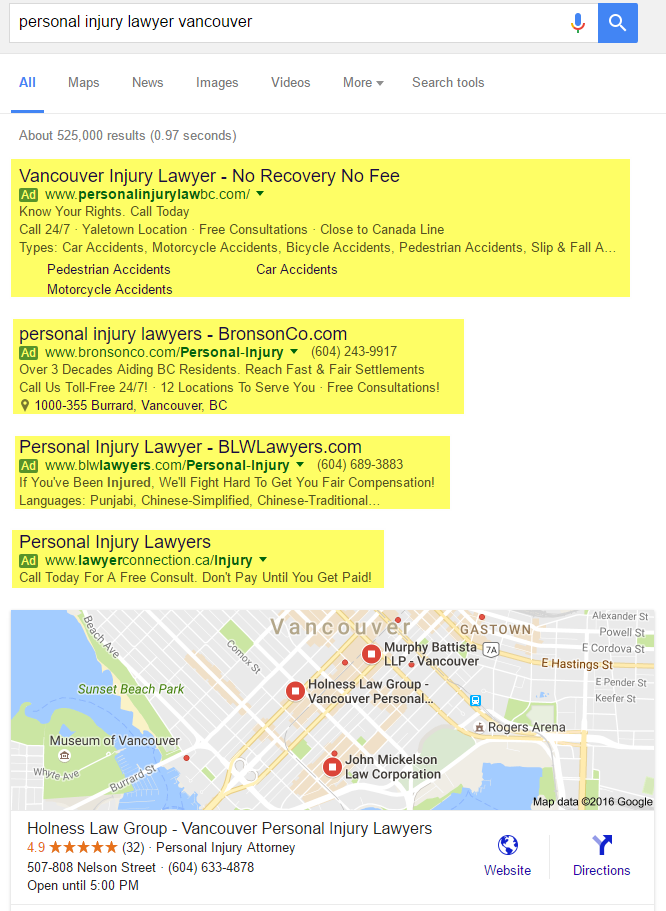 PPC Vancouver Personal Injury Lawyer