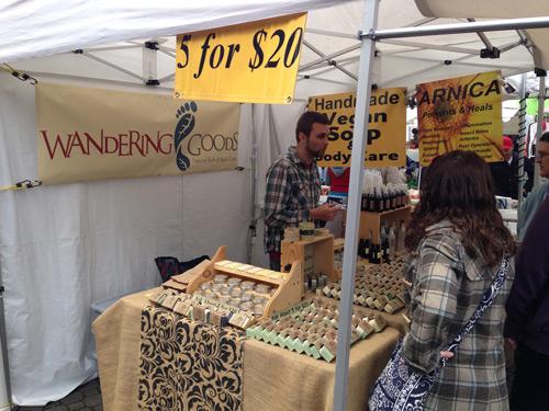 Wandering Goods vendor at Portland Saturday Market