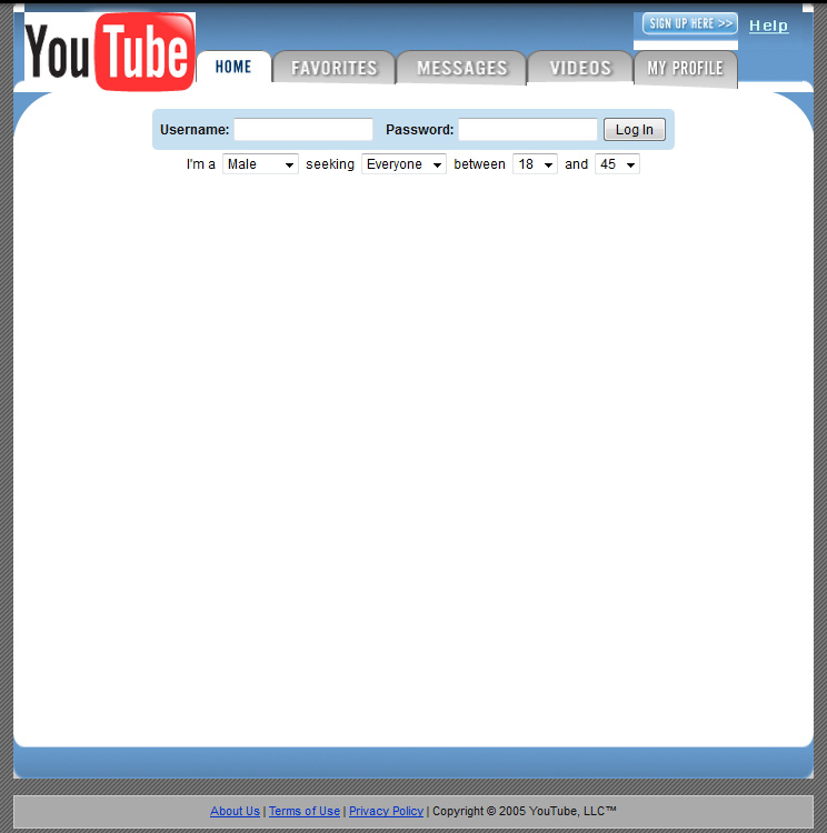 What YouTube looked like in 2005