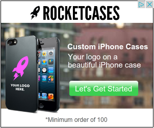 An example of a google display network advertisement, in this case, for Rocketcases