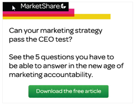 An example of a linkedin advertisement, in this case, from MarketShare