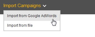 Import campaigns from AdWords to Bing Ads