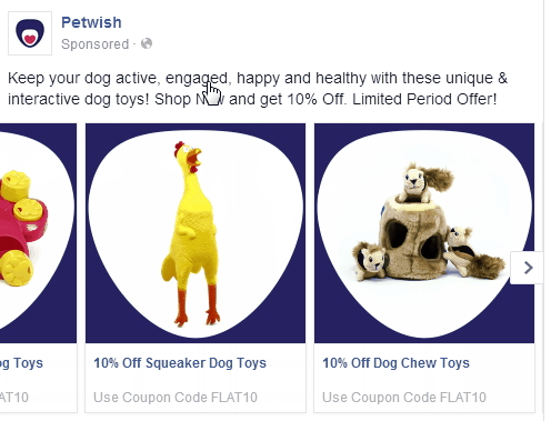 Facebook PPC advertising Multi Product Ads