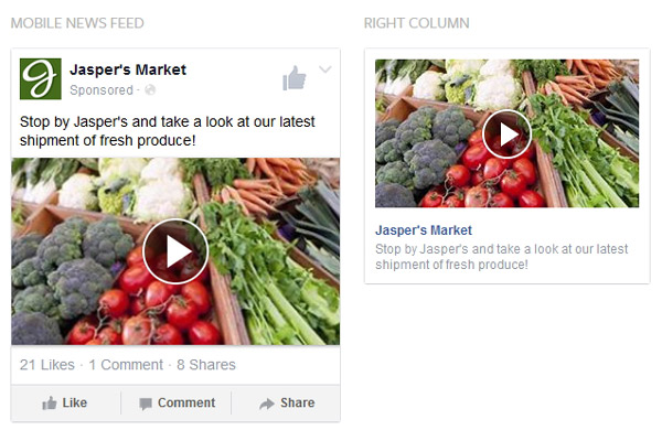 Facebook PPC advertising video