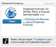 Featured comapny ad LinkedIn PPC