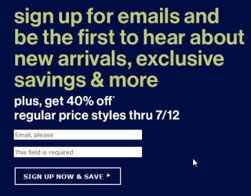 sign up bonus from da gap remarketing strategy