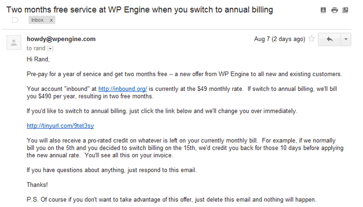WP engine great remarketing