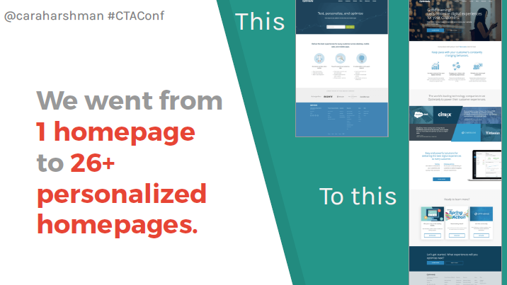 CTA Conference recap homepages
