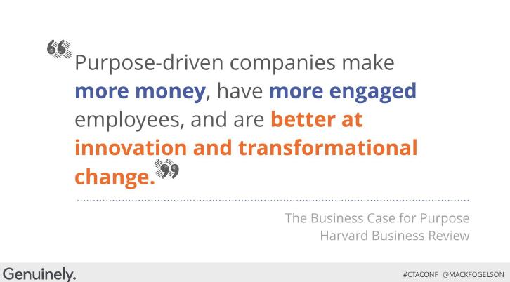 purpose-driven companies CTA Conference 2016